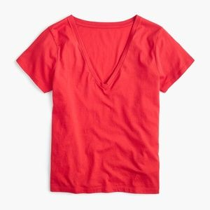 J.Crew Women's Supersoft Supima® V-neck T-shirt